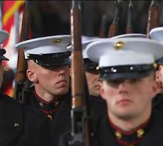 Marines at 2013 Pres Inaugural -- NO BOLT IN RIFLE