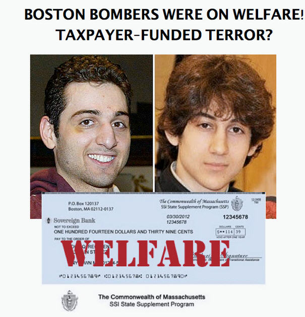 Boston Bomber Welfare