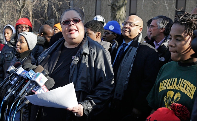 Karen Lewis Chicago Commandant