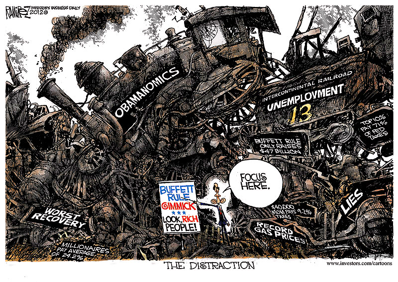 Obama's Distraction, Michael Ramirez