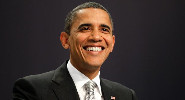 Barack Hussein Obama Smiling