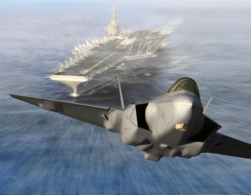 F-35 Digital Image Leaving Carrier