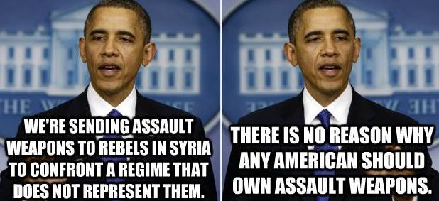 Obama, Syria, Assault Weapons
