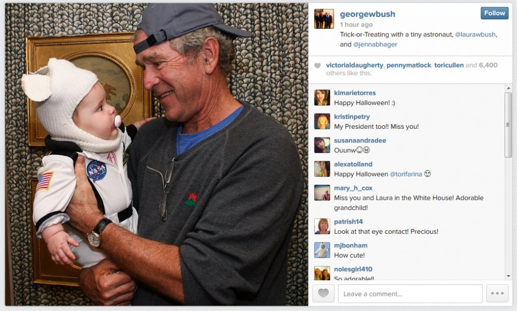 GW Bush and Halloween Grandchild