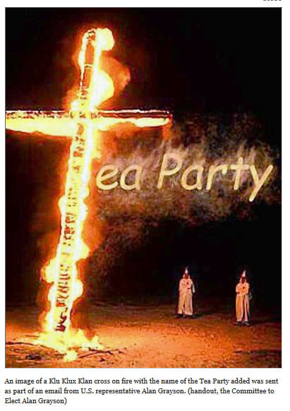TEA Party Grayson Cross Burning