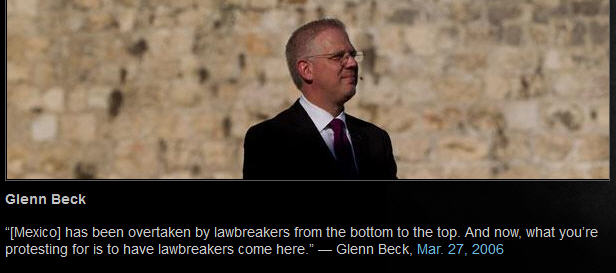 Beck's Wild Immigration Quote
