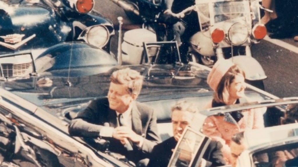 JFK In Limo, Close Up