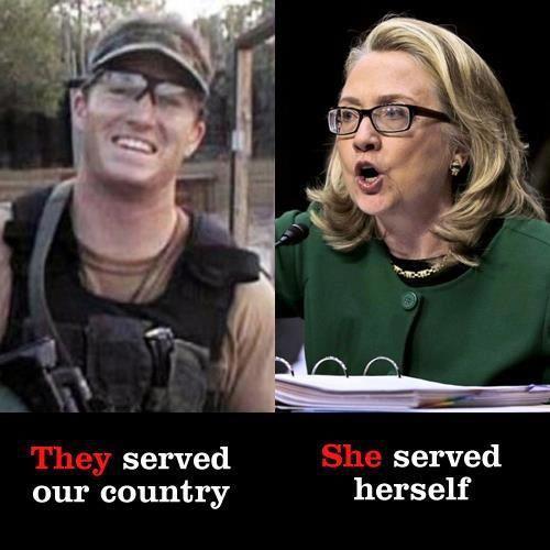 Hillary Served Herself
