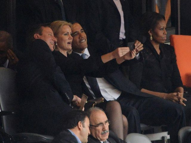 Obama Selfie Photo At Mandela Funeral