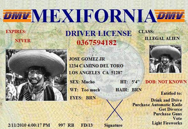 Mexifornia Licensia