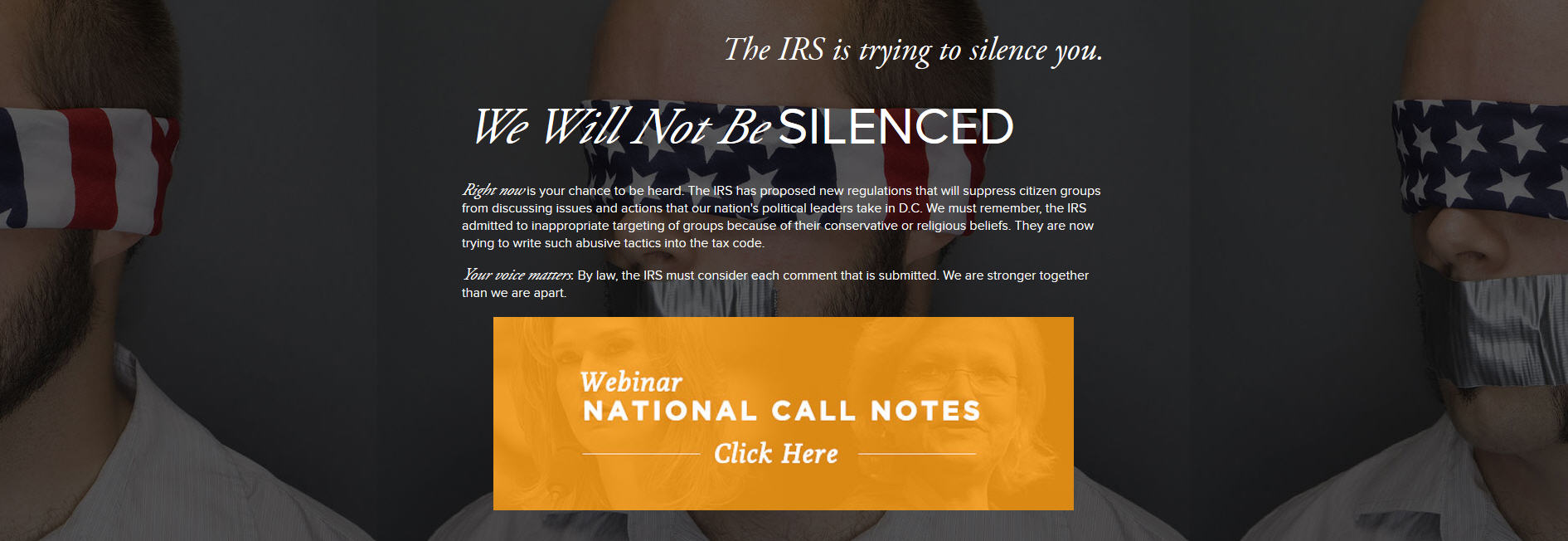 IRS - We Will Not Be Silenced