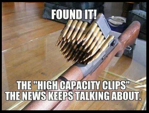 Firearms -- High Capacity Clips
