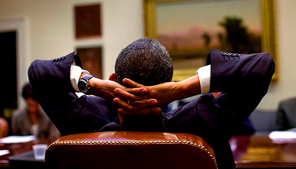 Obama Relaxing