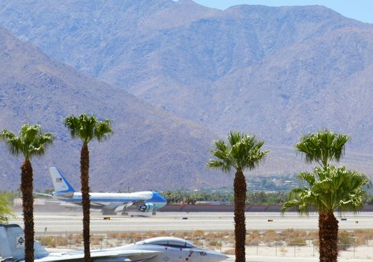 Air Force One Lands At Palm Springs, 6-15-14