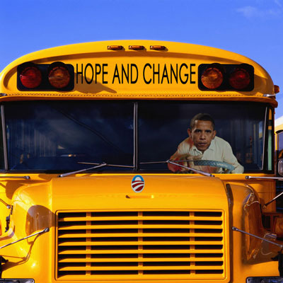Obama Driving the Bus