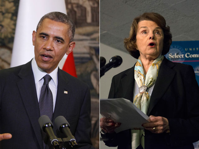 Obama and Feinstein