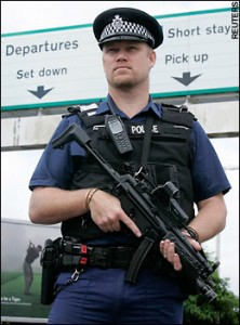 UK Armed Police at Airport