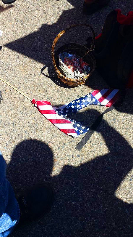 Burned American Flag