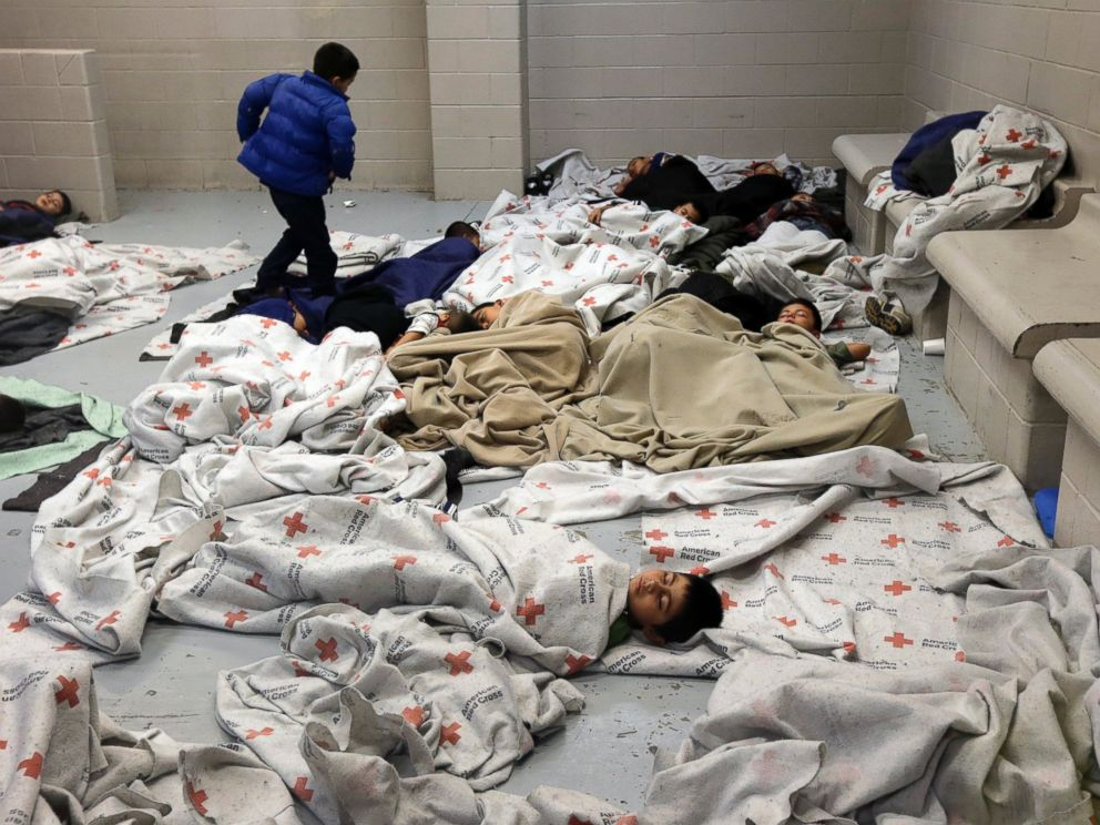 Illegals, Brownsville TX Overcrowding US Customs & Border Protection Processing Facility