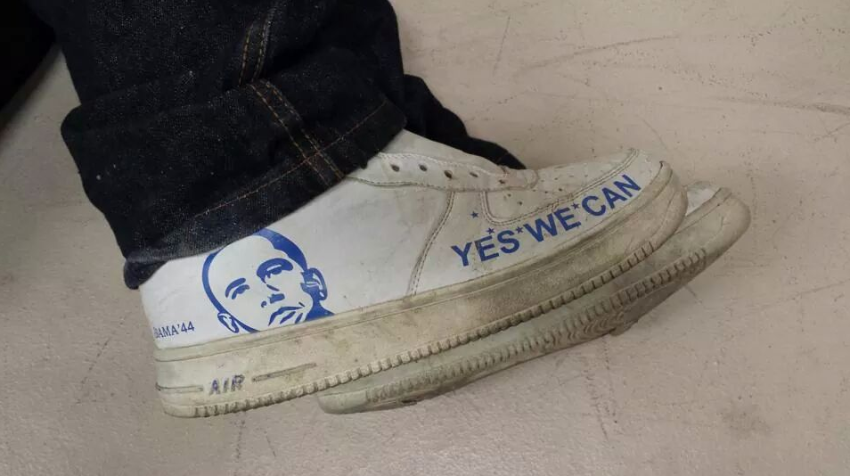 the latest 2ad1f 8a69e ... Obama Illegal Shoes  All Leather Nike ...