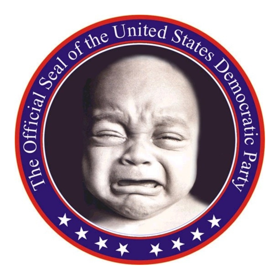 Democrat Party Seal - Baby Crying