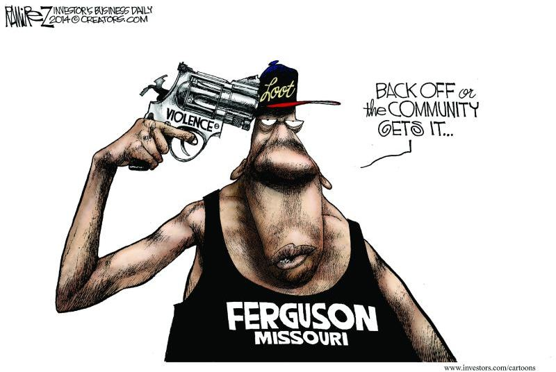 Ferguson MO Riots Cartoon