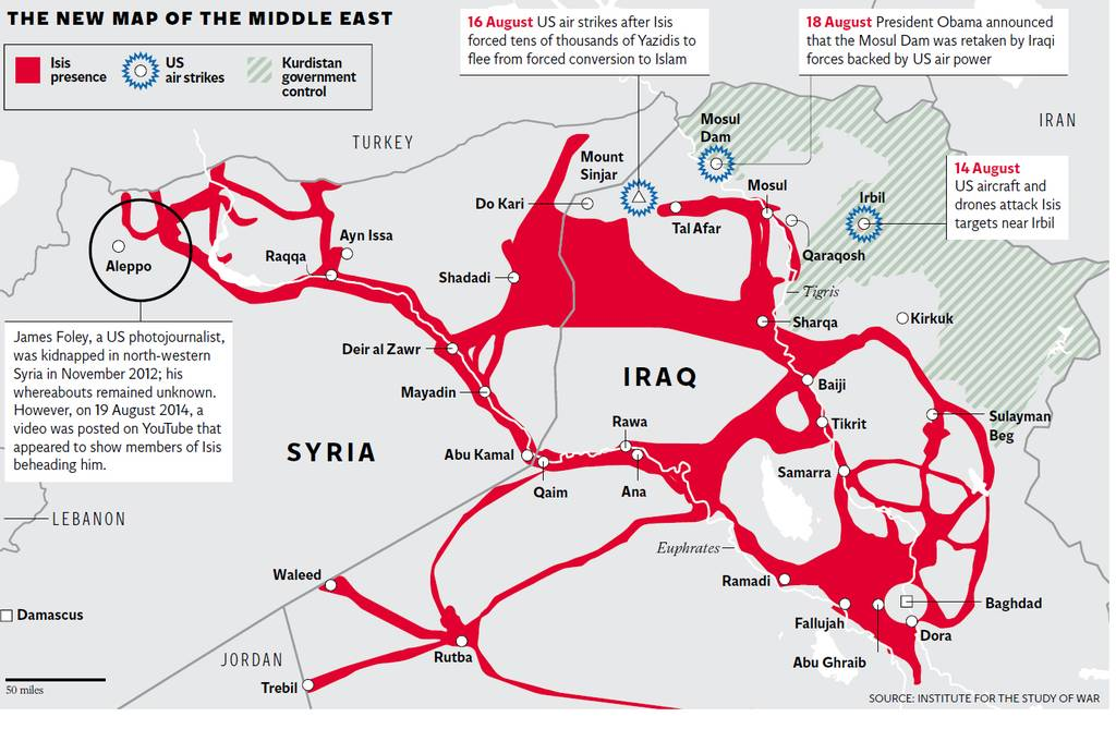 Middle East, New Map Of, With ISIS