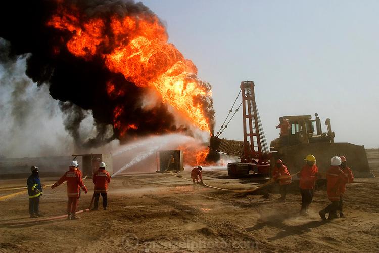Oil Fields Bombed