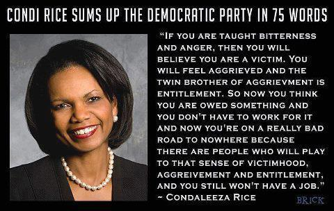 condi rice insulting appalling that democrats would fear mongering among minorities video