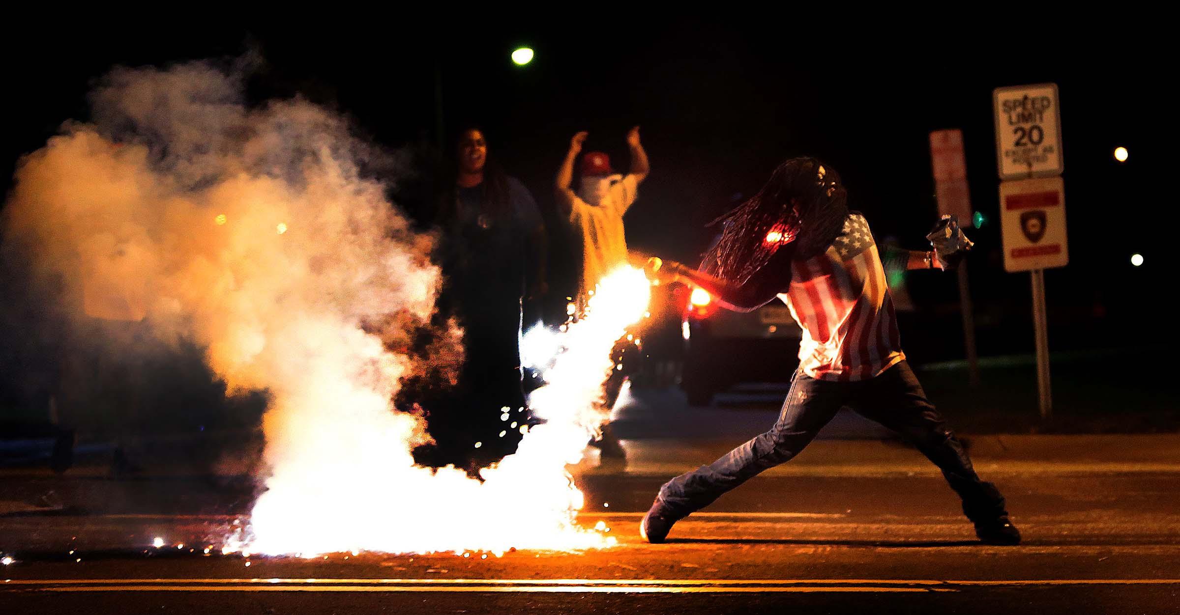 Ferguson Riots Flames