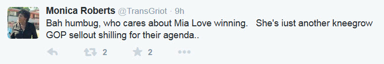 Mia Love Tweet Kneegrow