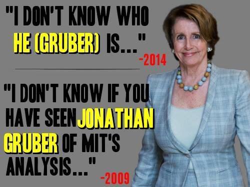 Pelosi's LIES Regarding Jon Gruber