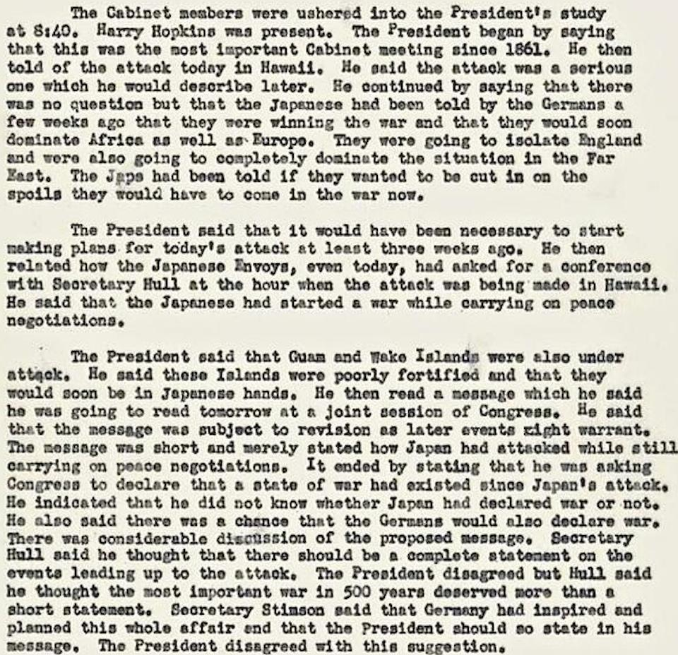FDR Cabinet Documentation
