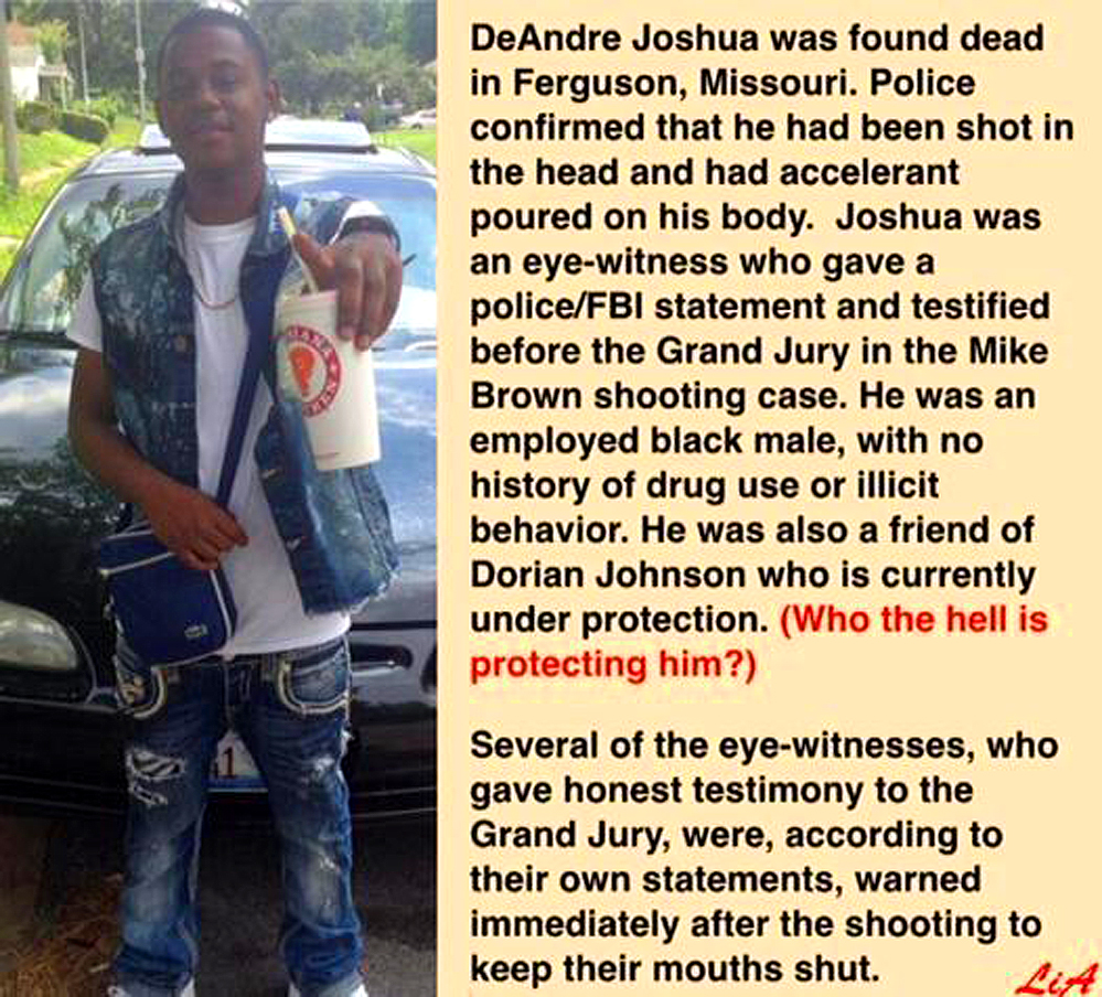 Ferguson Witness Murdered
