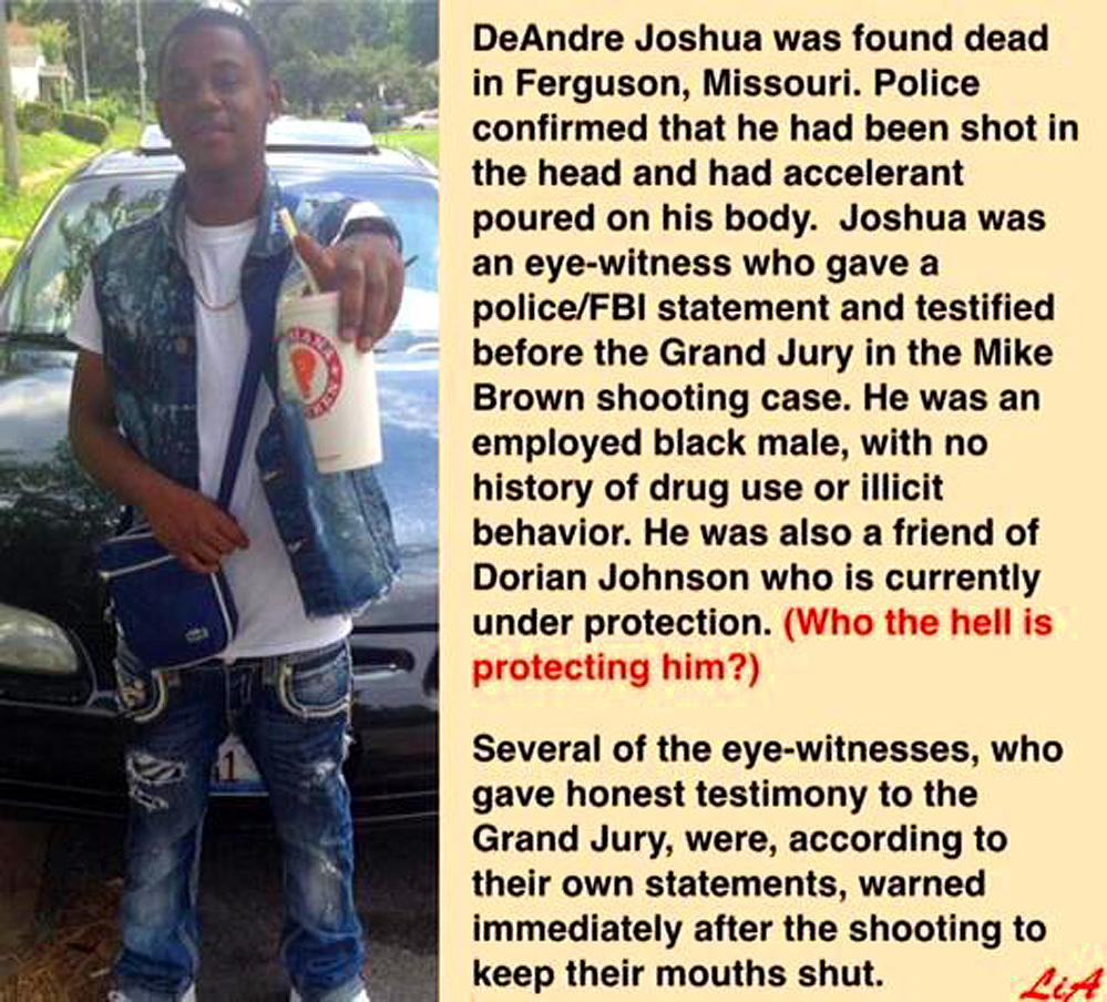 Ferguson Witness Murdered