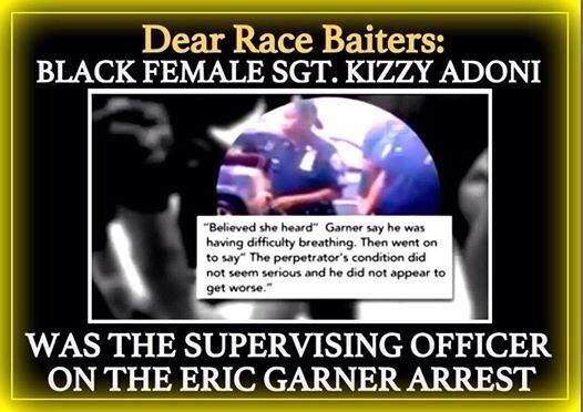 Garner Event - Black Female Sgt Present