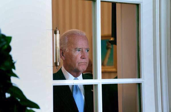 Joe Biden At Window