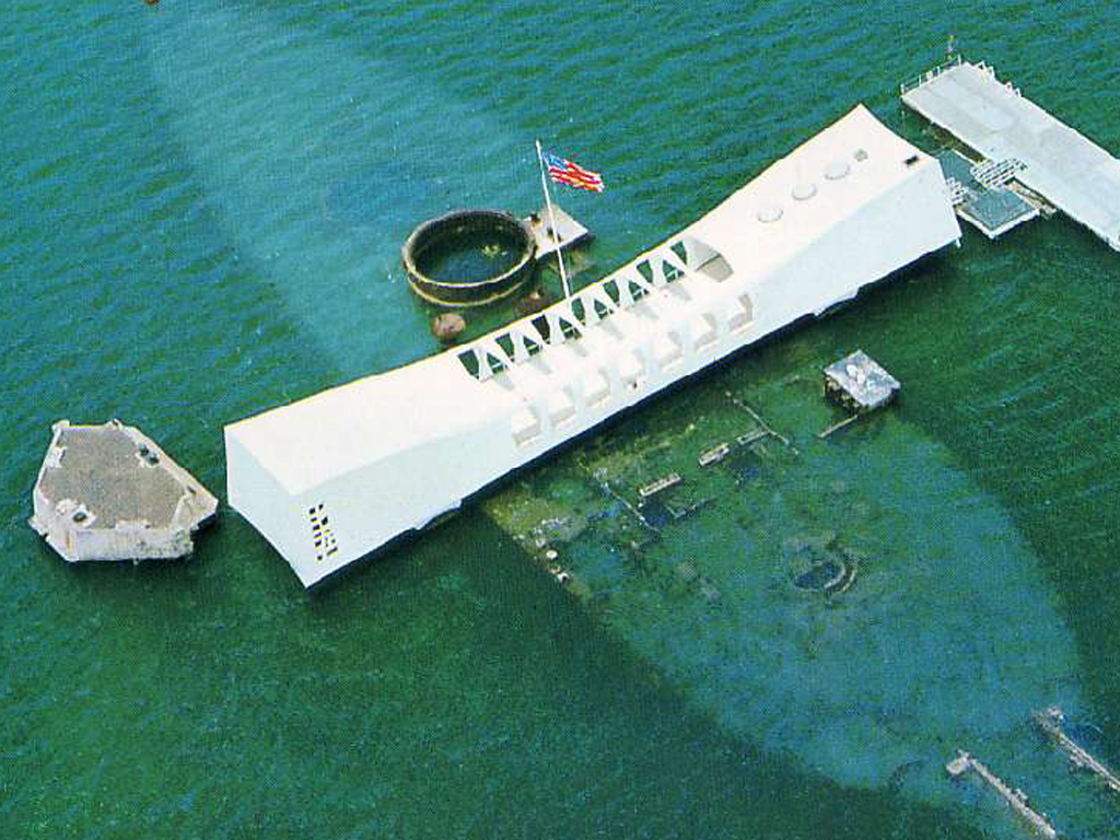 USS Arizona Memorial, Above