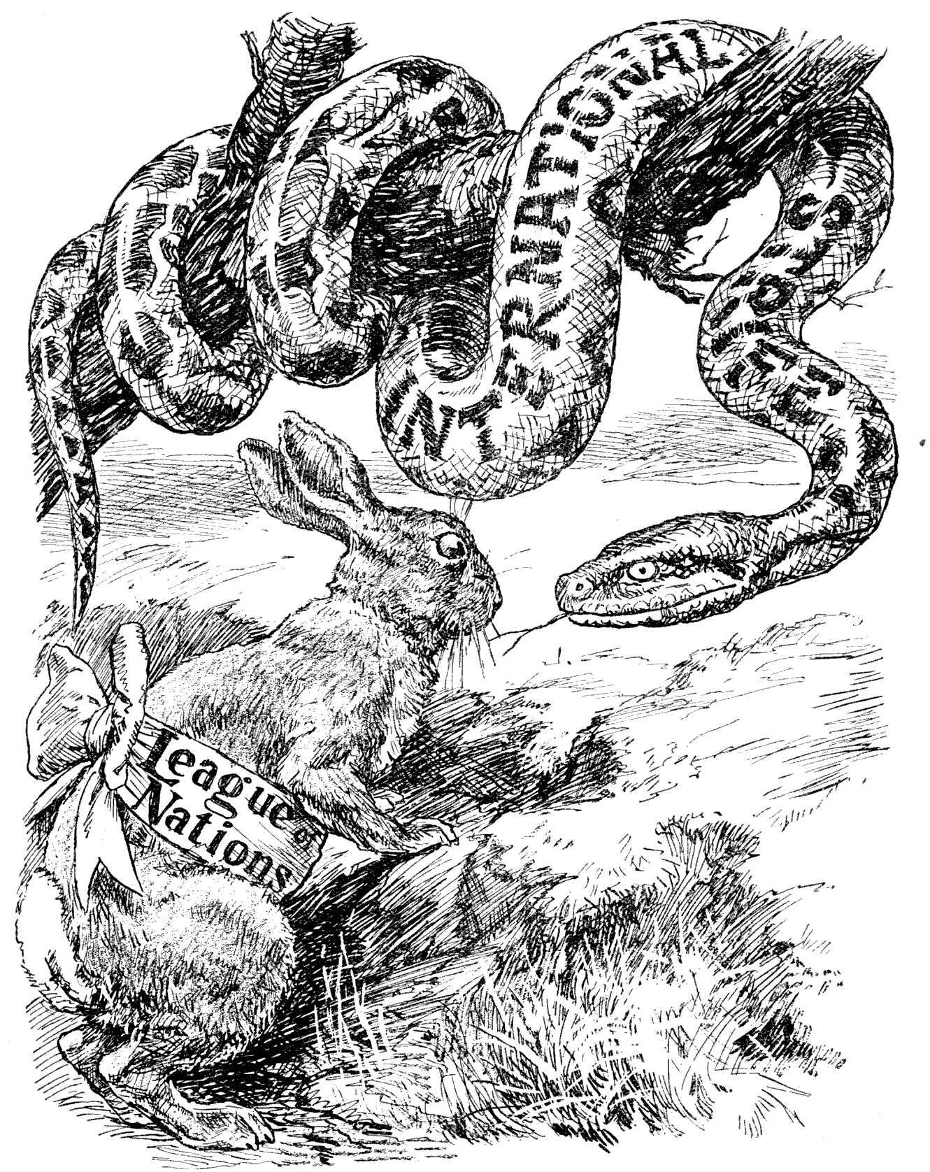 League of nations cartoon