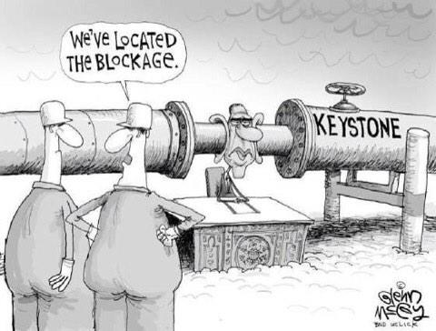 Keystone XL REAL Blockage