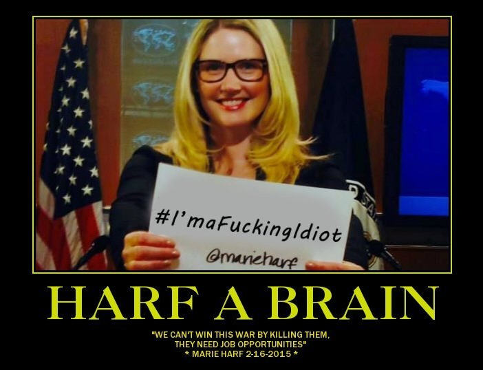 Marie Harf, Dept of Stupid State