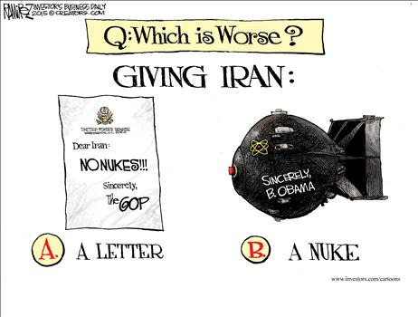 Iran Nuke Cartoon