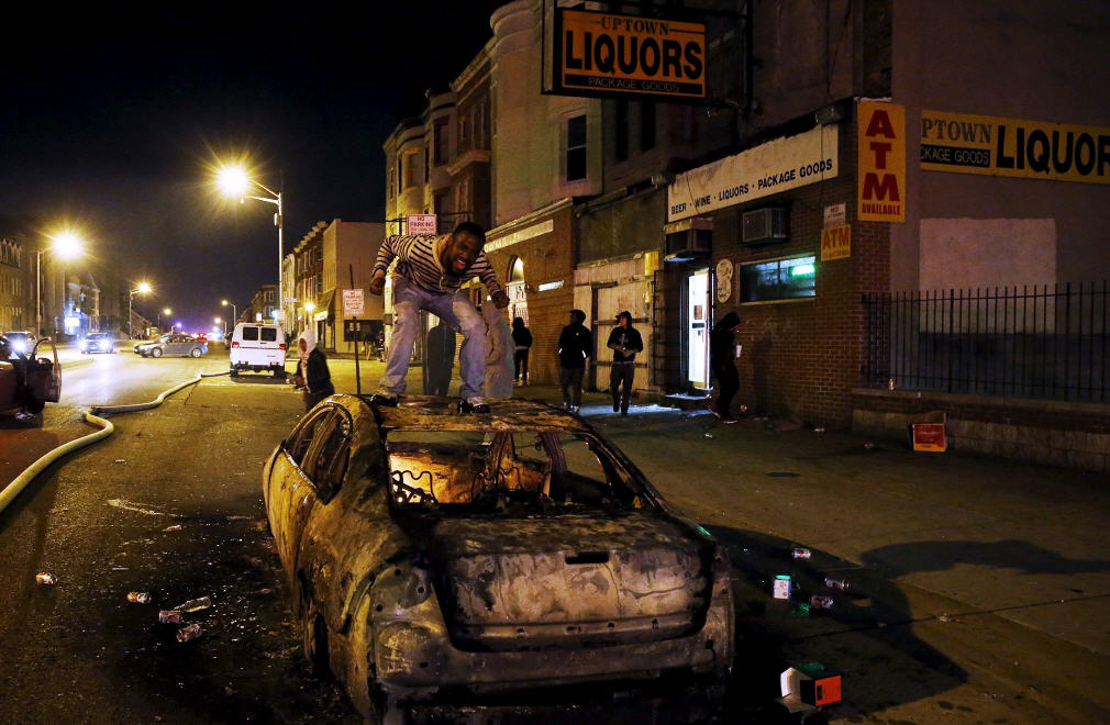 Baltimore Black Moron On Car