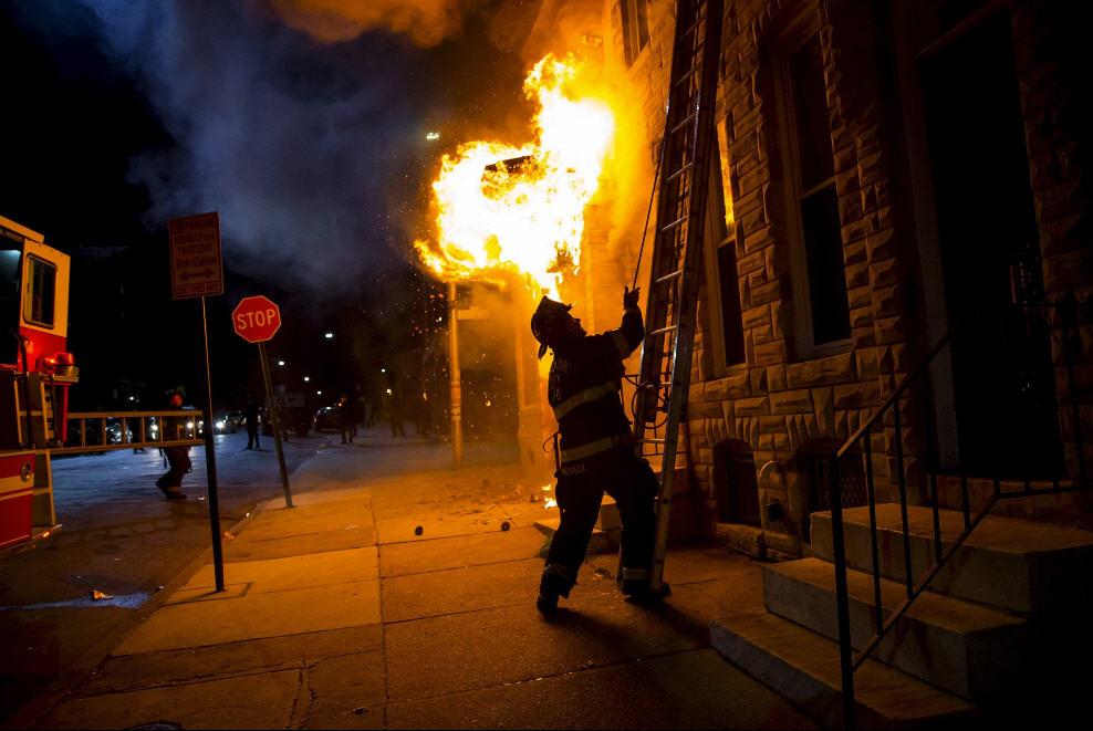 Baltimore FD Responding