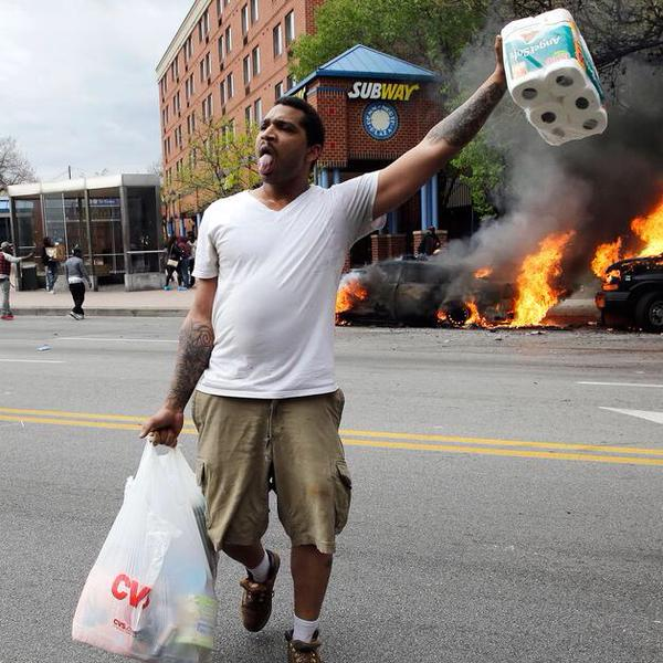 Baltimore Rioting From CVS