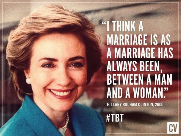 Hillary Believes Marriage