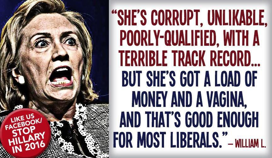Hillary Monied Vagina