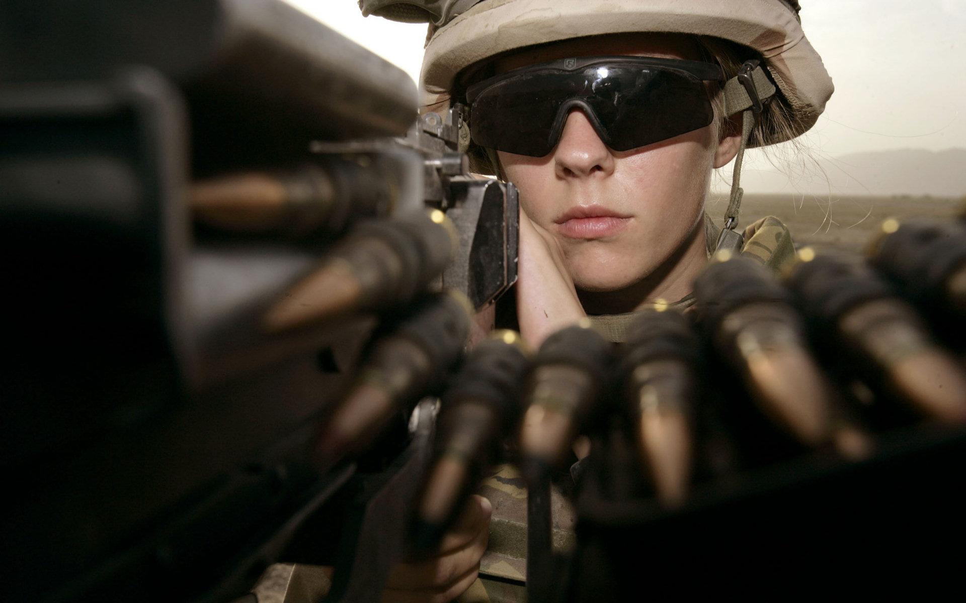 Female US Soldier