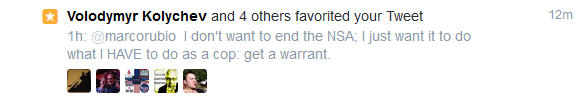NSA Rubio Re-Tweet