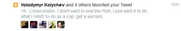 NSA Rubio Re-Tweet